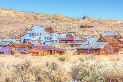 Photograph - Abandoned Mining Buildings by Susan Leonard
