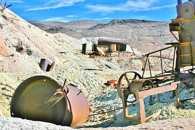 Photograph - Abandoned Mining Equipment by Marilyn Diaz
