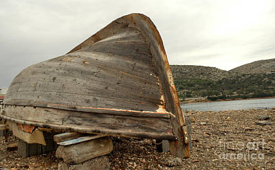 Photograph - Abandoned Nafplio Fishing Boat by Deborah Smolinske
