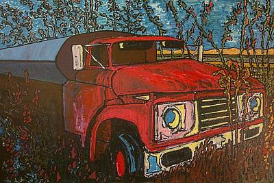 Abandoned Oil Truck Original by Michael Graham