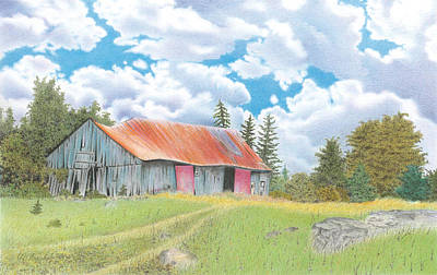 Abandoned Old Barn Art Print by Wilfrid Barbier
