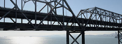 Bay Bridge Photograph - Abandoned Old Bridge Viewed From San by Panoramic Images