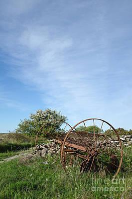 Photograph - Abandoned Old Horse Rake  by Kennerth and Birgitta Kullman