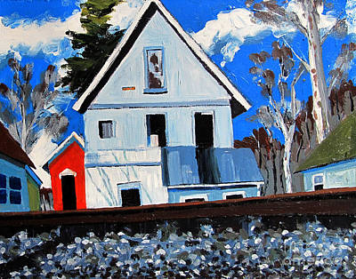 Abandoned Houses Painting - Abandoned On The Otherside Of The Tracks by Charlie Spear