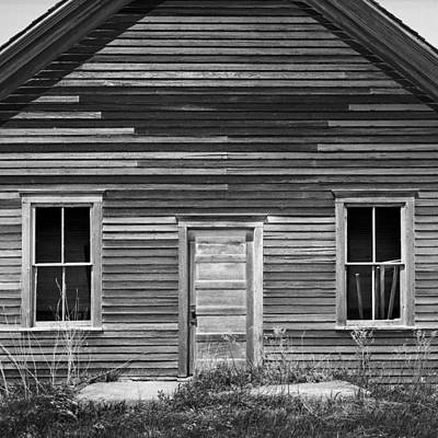 Old School House Photograph - Abandoned One-room Country School by Donald  Erickson