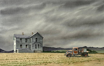 Old Houses Painting - Abandoned   by Paul Krapf
