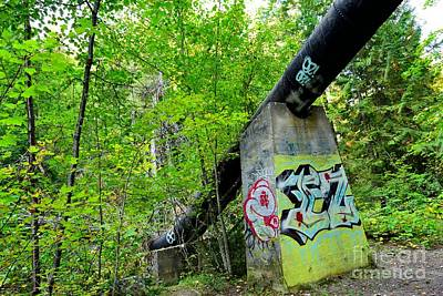 Abandoned Pipeline II Art Print by Phil Dionne
