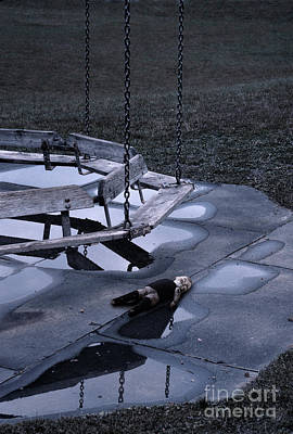 Abandoned Playground With Old Doll Left Behind Art Print by Jill Battaglia