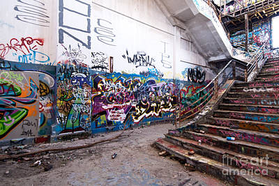 Photograph - Abandoned Power Station Staircase 03 by Rick Piper Photography