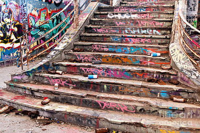 Photograph - Abandoned Power Station Staircase 04 by Rick Piper Photography