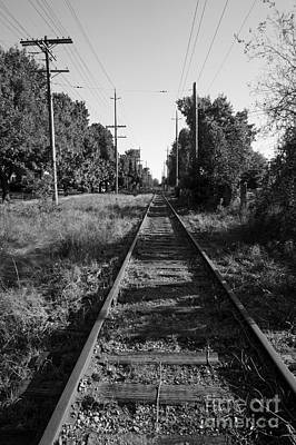 Photograph - Abandoned Railway Tracks by John  Mitchell