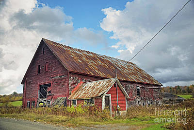 Photograph - Abandoned Red Barn by Alana Ranney