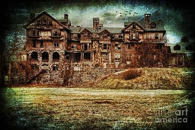 America Photograph - Abandoned Ruin Of A College New York Usa by Sabine Jacobs