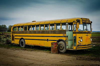 Abandoned School Photograph - Abandoned School Bus by Puget  Exposure