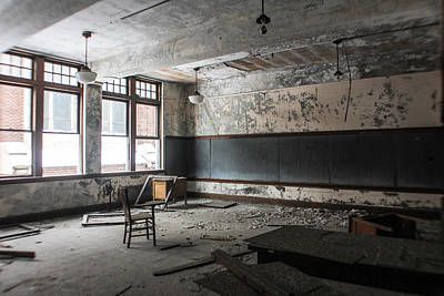 Photograph - Abandoned School In Detroit by John McGraw