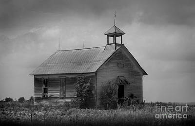 Photograph - Abandoned Schoolhouse by E B Schmidt