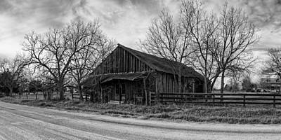 Photograph - Abandoned Shack In Anmansville Texas Dubina by Silvio Ligutti