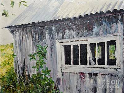 Abandoned Shed Original by Elaine Berger