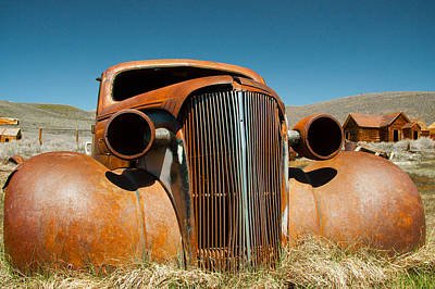 Abandoned Shell Of American Car Art Print