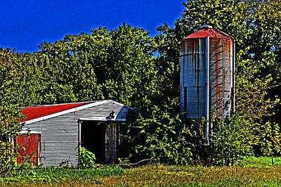 Photograph - Abandoned Silo Near Roxanna by Bill Swartwout