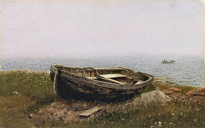 Painting - Abandoned Skiff by Frederic Edwin Church