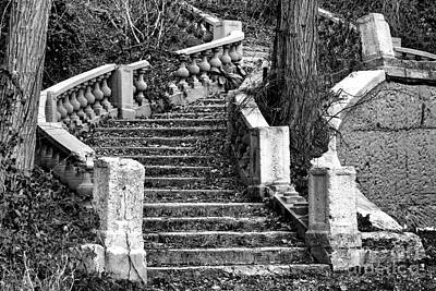 Abandoned Staircase Art Print by Olivier Le Queinec