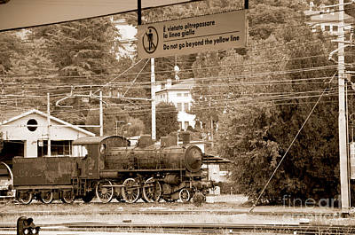 Photograph - Abandoned Steam Train In Italy by Brenda Kean