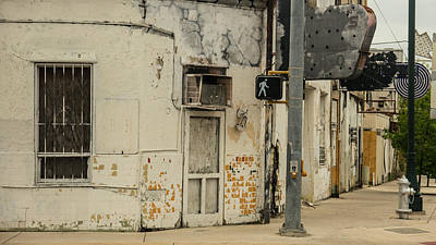 Vanishing Storefronts Photograph - abandoned street scene east side San Antonio Texas by Trace Ready