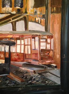 Abandoned Streetcar In Savannah Art Print by Christina Campo-Abdoun