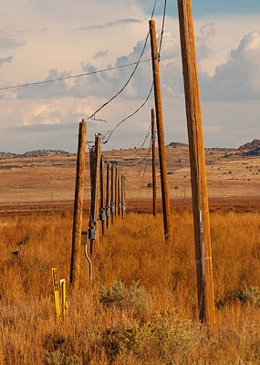 Telephone Poles Photograph - Abandoned Telephone Poles Seligman Az by Troy Montemayor