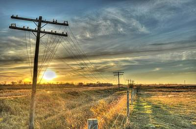 Photograph - Abandoned Telephone Wire by Vaughn Bender