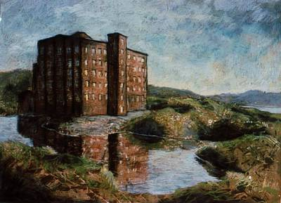 Ruins Mixed Media - Abandoned Tire Factory by Rose Wark