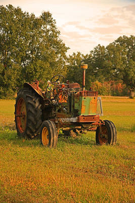 Photograph - Abandoned Tractor by Ronald Olivier