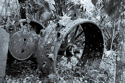 Photograph - Abandoned Tractor by Shannon Harrington