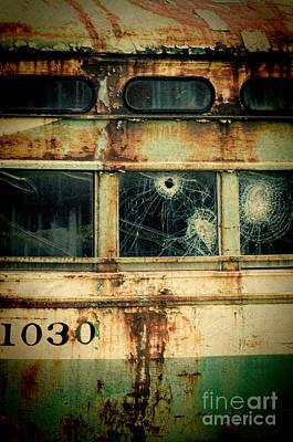 Rivets Photograph - Abandoned Train Car by Jill Battaglia