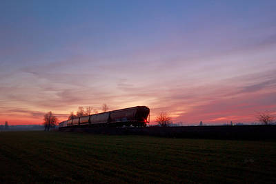 Art Print featuring the photograph Abandoned Train  by Eti Reid