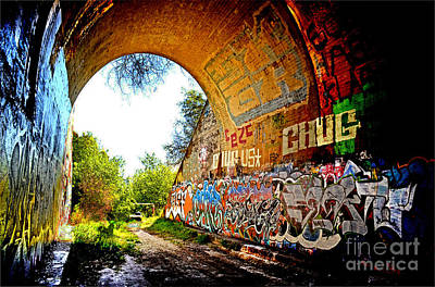 Photograph - Abandoned Train Tunnel South Of The Old Train Roundhouse At Bayshore Near San Francisco  by Jim Fitzpatrick