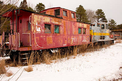 Old Caboose Photograph - Abandoned Trains by Kristia Adams