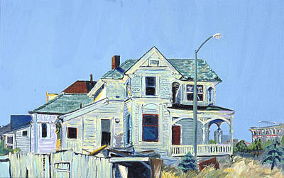 Art Print featuring the painting Abandoned Victorian In Oakland  by Asha Carolyn Young