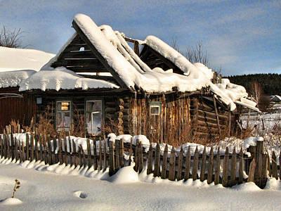 Winter Abondoned Cabin Photograph - Abandoned by Vladimir Kholostykh