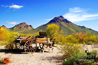 Chuck Wagon Photograph - Abandoned Wagon by Michael Petrizzo