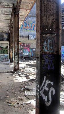 Photograph - Abandoned Warehouse Beams by Anita Burgermeister