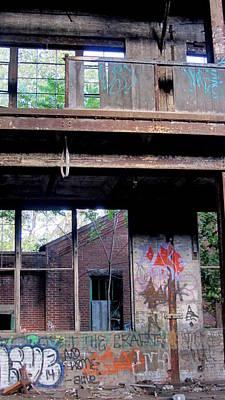 Photograph - Abandoned Warehouse Broken Windows by Anita Burgermeister