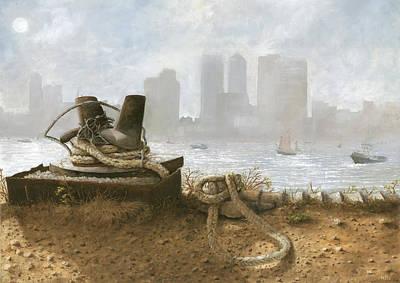 Abandoned Wharf Art Print