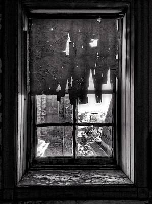 Abandoned Window Print by H James Hoff