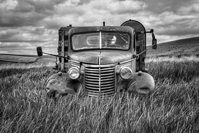 Abandoned Work Truck - Chevy - Palouse Art Print by Nikolyn McDonald