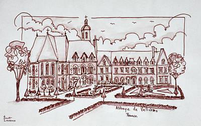 Abbaye De Valloires, Argoules, France Art Print