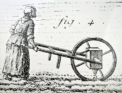 1750s Photograph - Abbe Soumille's Seed Drill by Universal History Archive/uig