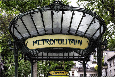 Metro Art Photograph - Abbesses Metropolitain by Georgia Fowler