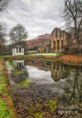 Abbey Reflection Print by Adrian Evans